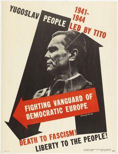 "nemfrog: "" E. McKnight Kauffer, designer, for the United Committee of South Slavic Americans. 1944. """