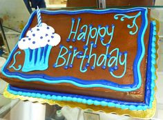 Happy Birthday Sheet Cake by Stephanie Dillon LS1 Hy-Vee