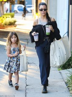 Mother daughter day: Kourtney Kardashian was back to mothering duties as she spent some quality time with her daughter Penelope in West Hollywood on Saturday
