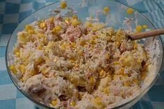 Salade riz thon recette cookeo ou sans.155 CALORIES 3 PP 2 SP.Encore une petite salade pour les beaux jours . De quoi se régaler Entrees, Grains, Rice, Calories, Food, Tuna Rice Salad, Kitchens, Salads, Rice Pack