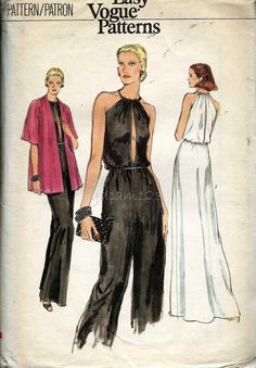 Vintage 1970s Halter Jumpsuit or Evening Gown and by sydcam123, $18.00