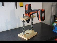 supporto per trapano fai da te (homemade mobile drill stand) - YouTube