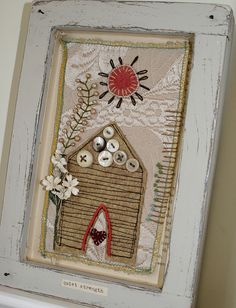 Shadowbox collage--quiet strength by Rebecca Sower, via Flickr