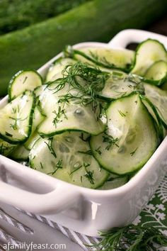 Simple Cucumber Salad - One of the best cucumber salads - and so simple to make!