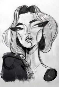 Face Sketch Face Art by Sara Woodrow (via nestpearls.)Sketch Face Art by Sara Woodrow (via nestpearls. Art And Illustration, Fashion Illustration Face, Graphite Illustrations, Art Drawings Sketches, Art Sketches, Arte Inspo, Arte Sketchbook, Aesthetic Art, Painting & Drawing