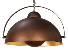 Chicago Large Pendant Light, Antique Copper and Gold