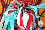 Ribbon Wands for Ceremony exit! Red And Teal, Red Turquoise, Aqua, Teal Christmas, Wedding Wands, Ribbon Wands, Carnival Wedding, Summer Berries, Backyard Games