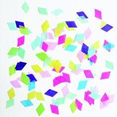 Confettis losanges multicolors