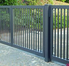 Fence Gate Design, Modern Fence Design, House Gate Design, Hidden Pool, Tor Design, Metal Grill, Iron Windows, Grades, Driveway Gate