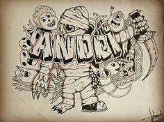 Doodle art mummy