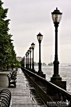 Battery Park, NYC - View of the Statue of Liberty. I don't think I ever saw the Statue of Liberty while we were there! :(