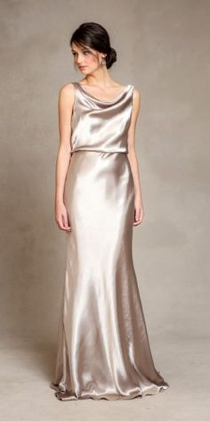 Bridesmaid Dresses for 2015 by Jenny Yoo. Gorgeous new styles for bridesmaid dresses from Jenny Yoo featuring new metallic dresses, silk, and convertible bridesmaid dress styles. Metallic Bridesmaid Dresses, Sparkly Bridesmaids, Bridesmaid Dress Styles, Metallic Dress, Bridesmaid Silk Robes, Taupe Dress, Bridesmaid Outfit, Satin Gown, Satin Dresses