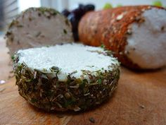 Homemade Non Dairy Cheese Log....I am sooo making this! Will have to check this out for Kian