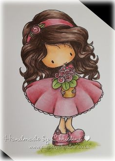 Handmade by Christine: Molly Shares. Cute Animal Drawings, Cute Drawings, Disney Drawings, Cartoon Drawings, Pictures To Draw, Cute Pictures, Cute Cartoon Boy, Cartoon Girls, Scrapbook Recipe Book