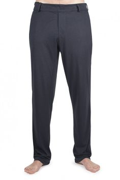 Men's jersey patient-wear pyjama bottoms - ideal for when undergoing medical treatment due to the very discreet, but hugely practical adaptations made to give greater access to the groin, abdomen and legs.  This provides greater comfort, independence and dignity even when connected up to medical devices.
