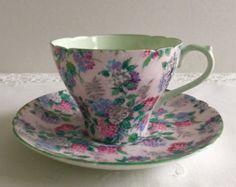 Plato y taza de té de Shelley Melodía zaraza adelfa