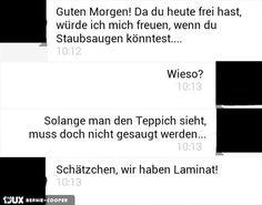 Staubsaugen.... #Fail #sms #Android #staubsaugen #laminat -------------------------------------- Mehr unter: https://de.1jux.net/login?rid=109687 und unter: https://www.facebook.com/WitzeMemeLustigesZitate