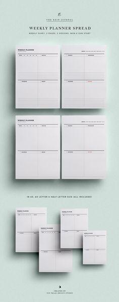 Weekly Planner Printable, Weekly Planner Kit, Printable Planner - Agenda Planner Template