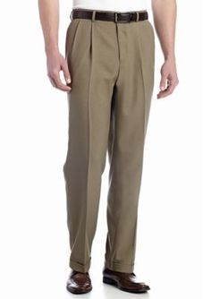 Louis Raphael  Classic-Fit Pleated Non-Iron Houndstooth Dress Pants