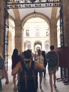 Taking a tour of the University of Seville #ceaAbroad