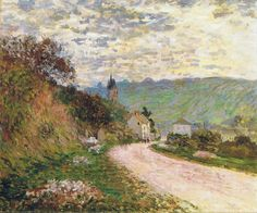 1878-79 Claude Monet The road coming into Vetheuil(private collection)(49,5 x 61 cm)