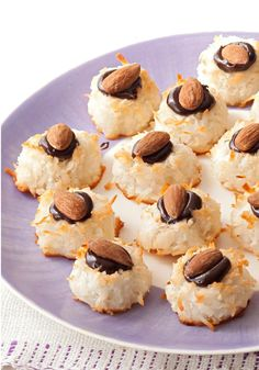 Chocolate Ganache-Filled Macaroons – Chocolate and coconut always get on famously, and that holds true once again in these ganache-filled macaroons made with roasted almonds.