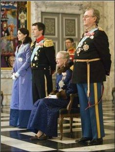 Queen Margarethe and Prince Henrik, Crown Prince Frederik and Crown Princess Mary