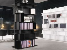 Sectional TV wall system with casters WALLY - Cattelan Italia