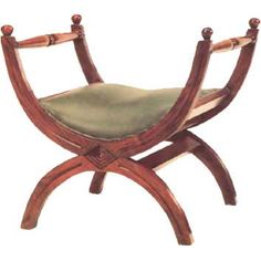 The Roman curule chair is a very important component of Roman furniture because of its use, size, and ability to fold. Space was very limited back then so furniture was often designed to be portable and even be able to hang on the walls. This stool allowed seating for high class, wealthy citizens. The curule stool mimics other furniture from other time periods mentioned above through its curved design features, and its ability to save space.
