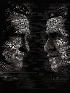 Amazing typography art from The Experiential - Obama Romney