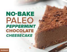 No Bake Paleo Peppermint Cheesecake Recipe