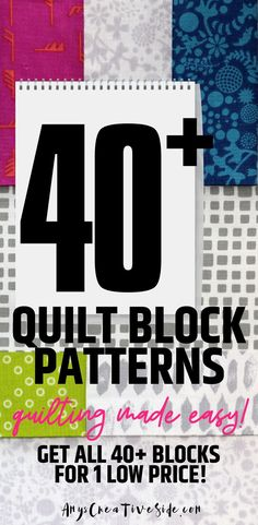 Do you want access to ALL of my modern quilt block patterns for one low price? Check out my new Modern Quilt Block Series Complete Collection Access!  Quilt blocks are a fun and easy way to learn how to quilt. I add a new pattern with a video tutorial to my site every week!