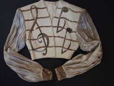 1940's~BROOKS COSTUME Co. NY~Clef Key Music~Movie Theater Stage Actor Jacket Vtg