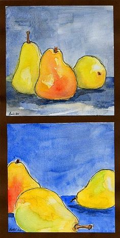 open closed composition- watercolor grades 5-6 Cezanne