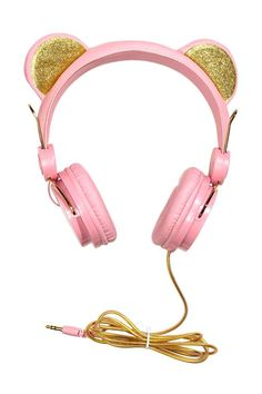 Size-adjustable, on-ear headphones. Ears at top with glittery sections. Fit mobile phones with a socket. Length of cable approx. Best In Ear Headphones, Cute Phone Cases, H&m Fashion, Audiophile, Cute Jewelry, Gadgets, Tech Accessories, Girly, Mobile Phones