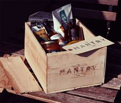 """Mantry: While you concern yourself with the big picture, executive-level decision making, leave the menial crap, like choosing your food & drink, to the passionate peons at Mantry. Mantry means """"man's pantry."""" These dude-food experts will curate your jerky and exotic whatnots, then ship 'em to you monthly. ($75/month)"""
