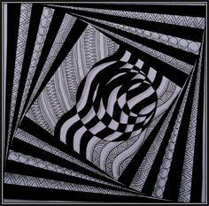 Xplore & Xpress: Zentangle challenge # 74