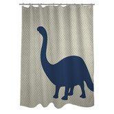 Found it at Wayfair - Brontosaurus Stripe Shower Curtain