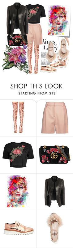 """Strange Mrs. Savage."" by m-kints ❤ liked on Polyvore featuring Tiffany & Co., Cape Robbin, Post-It, McQ by Alexander McQueen, Gucci, Alexander McQueen, STELLA McCARTNEY, Miu Miu and unusual"