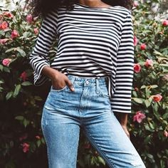"""317 Likes, 18 Comments - A B Y S S I N I A (@iamabyssinia) on Instagram: """"High-waisted denim love w/ @myfitcode X @agjeans 