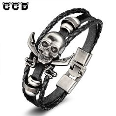 1541111a7dd KISS MANDY Cross Pattern Stainless Steel Bracelet in Black Color Scripture  Religious Wristband Bracelet Fashion Accessories FB57