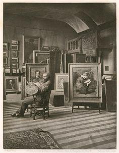 the studio of Valentine Cameron Prinsep   circa 1883