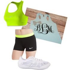 It's a cute outfit perfect for those hot cheer practices!