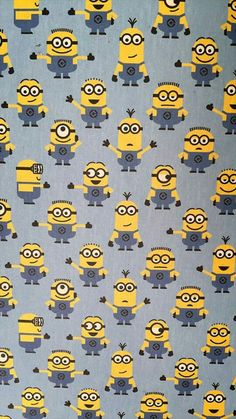 Millions Of Minions Googly Eyes Yellow 100/% cotton fabric by the yard