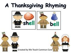Thanksgiving Rhyming Literacy Center and Daily 5 Reading Activity