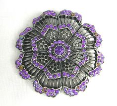 #Vintage Purple Rhinestone #Flower #Brooch http://arnd.co/X686I  #bestofEtsy #jewelry