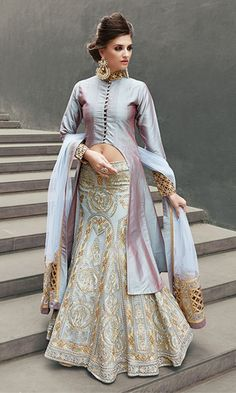 Buy Indian Designer Salwar Kameez Online for Women in US UK CAD AUS NZD Free International Shipping. Indian salwar kameez, punjabi suits and anarkalis onli Long Choli Lehenga, Choli Dress, Net Lehenga, Lehenga Skirt, Lehenga Blouse, Indian Lehenga, Eid Dresses, Indian Dresses, Indian Outfits