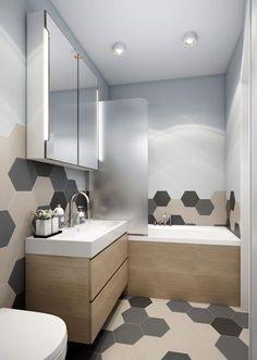 Une salle de bain #design ! #moderne #bois #blanc #gris #baignoire #déco #décoration http://www.m-habitat.fr/baignoire/types-de-baignoires/les-baignoires-a-remous-3344_A