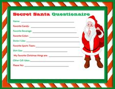 secret santa white elephant gift exchange forms secret santa