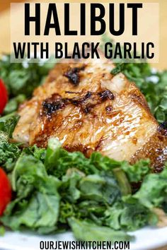Easy, pan-seared Halibut with Black Garlic is ready in as little as 15 minutes! … Easy, pan-seared Halibut with Black Garlic is ready in as little as 15 minutes! This quick recipe makes a delicious dinner. Halibut Recipes, Best Seafood Recipes, Garlic Recipes, Quick Recipes, Fish Recipes, Healthy Dinner Recipes, Cooking Recipes, Cooking Fish, Amazing Recipes